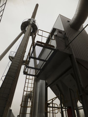 dust collector and chimney and exhaust fan