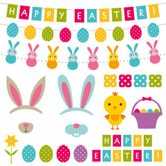 Easter decoration and photo booth props set