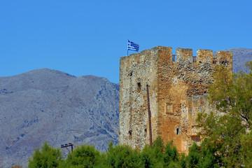Blanks Venetian fortress walls on the island of Crete.