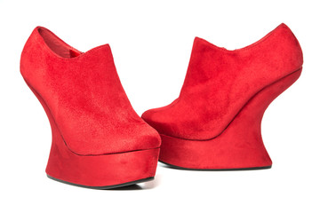 High heels shoes with platform in wedges style