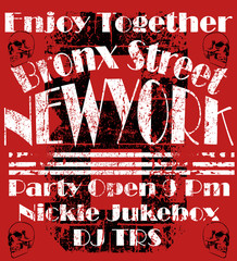 Newyork City man tshirt graphic design