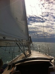 sailing out on the ocean