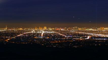 Las Vegas Dusk to Night Time Lapse