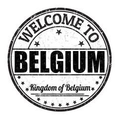 Welcome to Belgium stamp