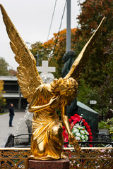 Angel statue on Moscow cemetery