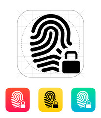 Fingerprint and thumbprint with lock icon.