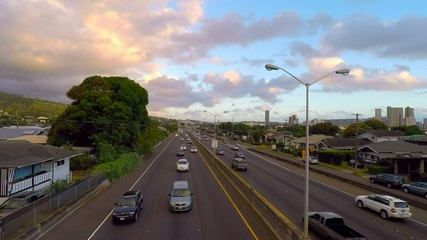 HIghway good traffic H-1 honolulu hawaii