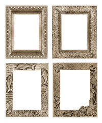 picture frame isolated on white background, clipping path, Toast