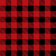 Tiled Red and Black Flannel Pattern Illustration - 77772976