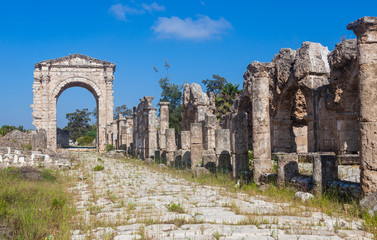Ruins of ancient Roman Triumphal Arch, Tyre, Lebanon
