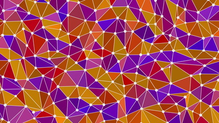 Abstract connected triangle surface seamless waving