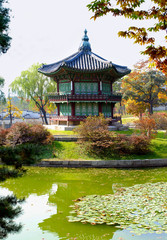 Asian palace or temple pagoda