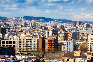 residence district in Barcelona from Montjuic