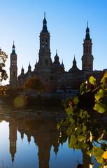 Cathedral    in  morning at Zaragoza, Spain