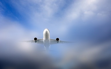 Aircraft in clouds