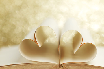 Pages in heart shape