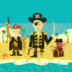 Three pirates on an island
