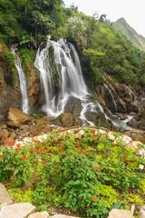 Beautiful Tien Sa water fall in Sapa,Vietnam.
