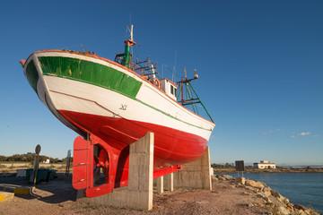 Trawler on a shipyard