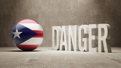 Puerto Rico. Danger  Concept