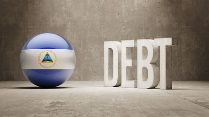 Nicaragua. Debt  Concept