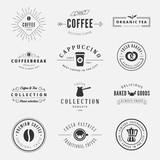 Coffee Retro Vintage Labels Logo design vector typography - 77782334