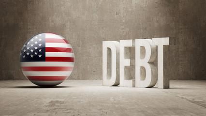 United States. Debt  Concept