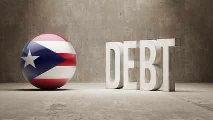 Puerto Rico. Debt  Concept