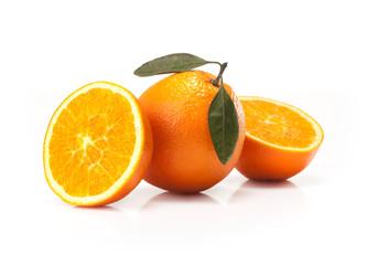 Big oranges fruit  isolated on white background