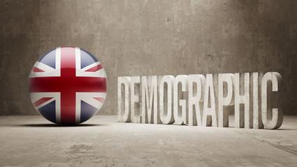 United Kingdom Demographic Concept