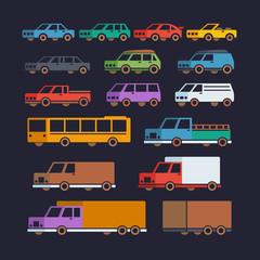 Car Types Flat Icons