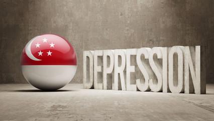 Singapore Depression Concept