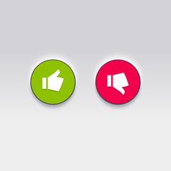 Thumbs Like and Dislike, vector icons