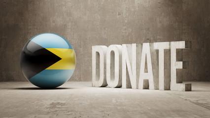 Bahamas. Donate  Concept