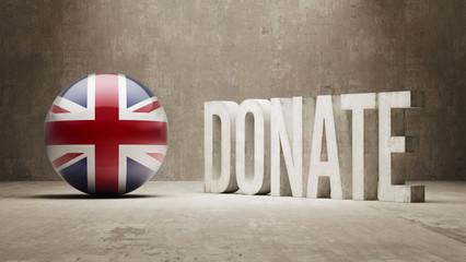 United Kingdom. Donate  Concept