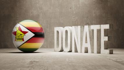 Zimbabwe. Donate  Concept