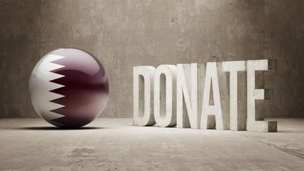Qatar. Donate  Concept