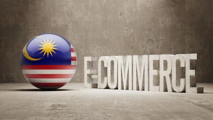 Malaysia. E-Commerce  Concept.