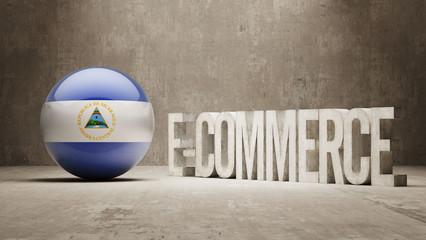 Nicaragua. E-Commerce  Concept.