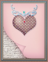 Background with ornamental heart series