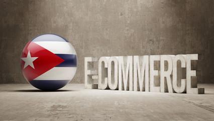 Cuba. E-Commerce  Concept.