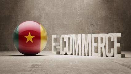 Cameroon. E-Commerce  Concept.