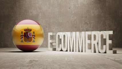 Spain. E-Commerce  Concept.