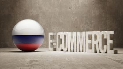 Russia. E-Commerce  Concept.