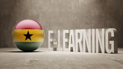 Ghana. E-Learning  Concept