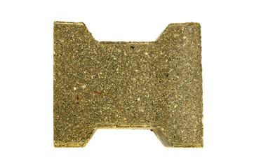 decorative  pavement concrete brick paving stone isolated
