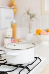 white pan kitchen image