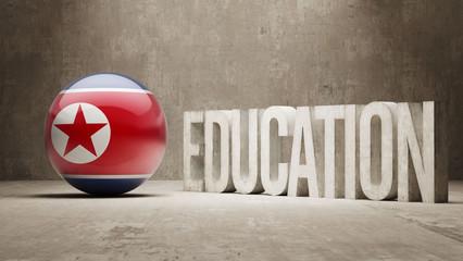 North Korea Education Concept