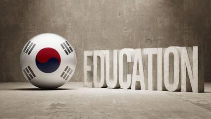 South Korea Education Concept