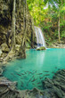 Beautiful Erawan Waterfall in Erawan National Park, Kanchanaburi